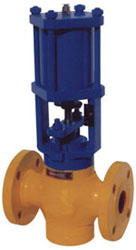 Pneumatic cylinde operated globe valve