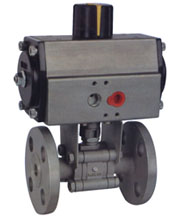 Pneumetic Actuator operated ball Valve